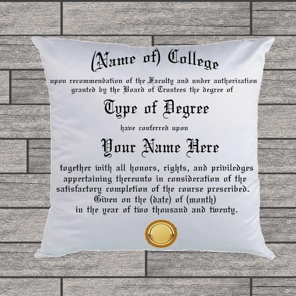 Custom (College) Degree Pillow