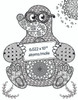 M is for Mole Coloring Book Page - Level 3