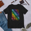 Curie PRIDE Striped Short-Sleeve Unisex T-Shirt