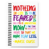 Curie PRIDE Quote Spiral notebook
