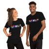 Scientist Spelled with PRIDE Flags Short-Sleeve Unisex T-Shirt