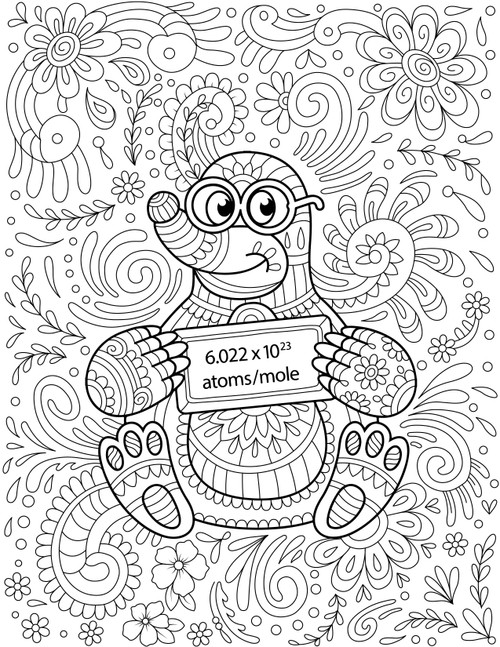 M is for Mole Coloring Book Page - Level 2