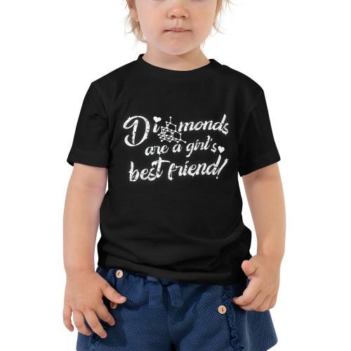 Diamonds are a Girl's Best Friend - Toddler Short Sleeve Tee