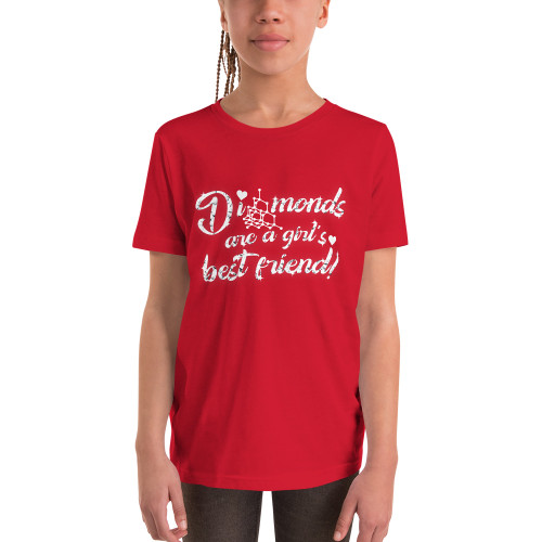 Diamonds are a Girl's Best Friend - Youth Short Sleeve T-Shirt