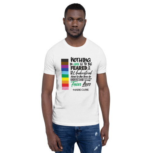 Curie PRIDE 2021 Quote Short-Sleeve Unisex T-Shirt