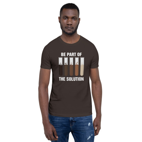 BIPOC Be Part of the Solution Short-Sleeve Unisex T-Shirt (White Lettering)