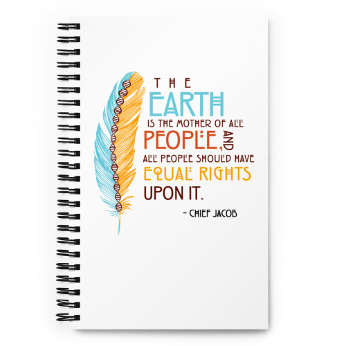 Indigenous Scientists Quote Spiral notebook