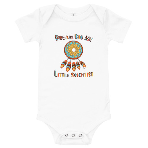 Dream Big My Little Scientist Baby short sleeve one piece
