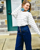 Striped Cropped Crew Neck
