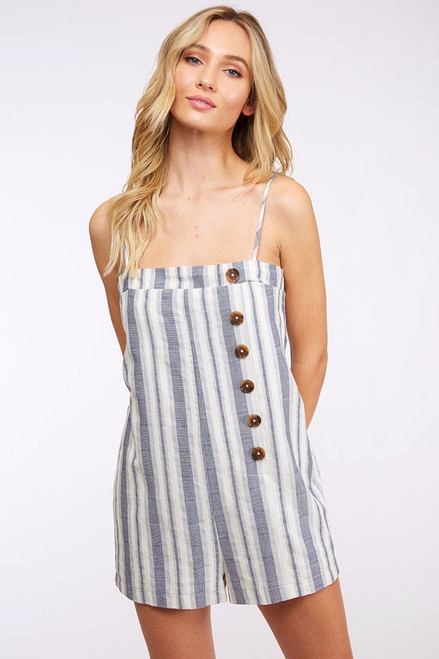 Printed Button Romper