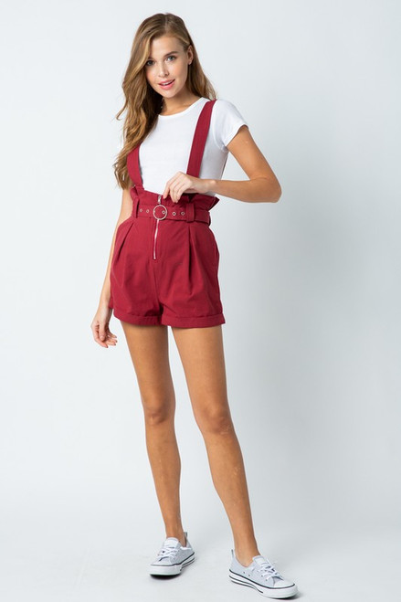 Overall Paperbag Shorts