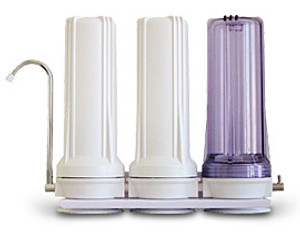3 stage NASA based counter-top water filtration