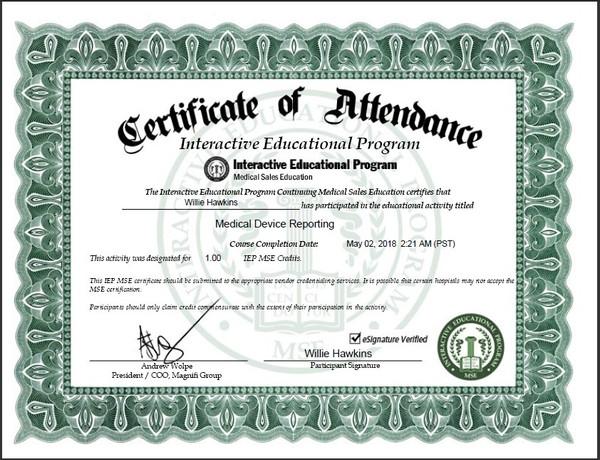 Hospital Business Certification Program