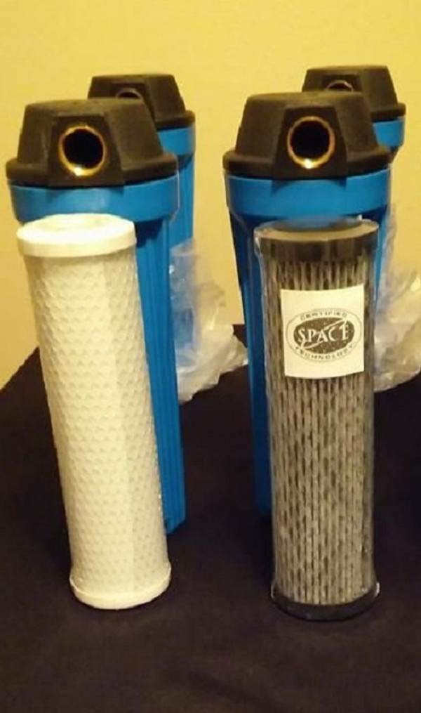 2 stage under counter water filtration system