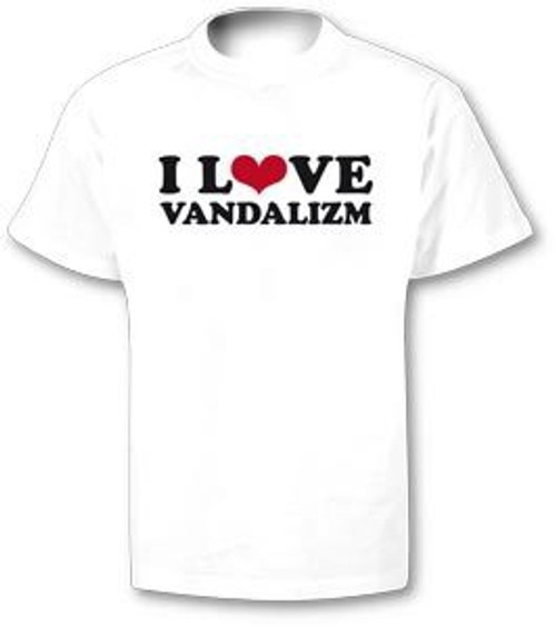 Writers Stuff I Love Vandalizm T-Shirt White