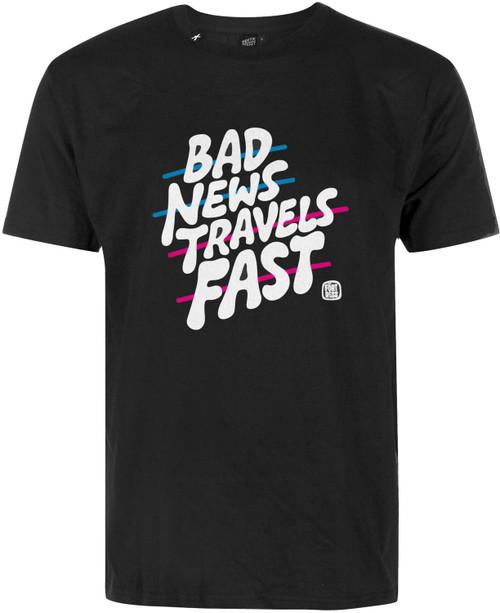 Hektik Bad News Travels Fast T-shirt Black