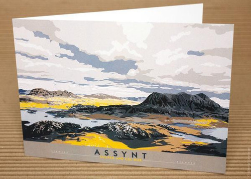 Stewart Bremner Assynt Suilven & Cul Mor Greetings card