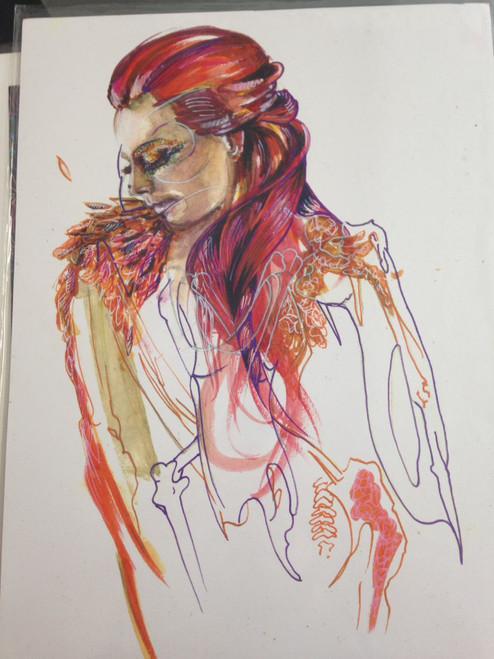 Shona Hardie - Girl Skeleton A3 Print