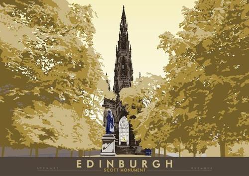 Stewart Bremner Edinburgh Scott Monument A3 print