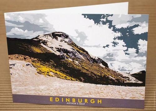 Stewart Bremner Edinburgh Arthur's Seat Greetings Card