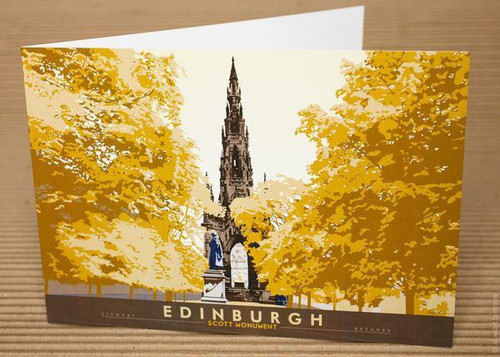 Stewart Bremner Edinburgh Scott Monument Greetings Card