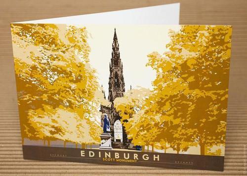 Stewart Bremner Edinburgh Scott Monument Greetings Card