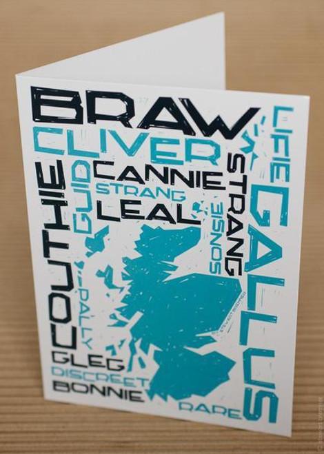 Stewart Bremner Braw Scots Greetings card