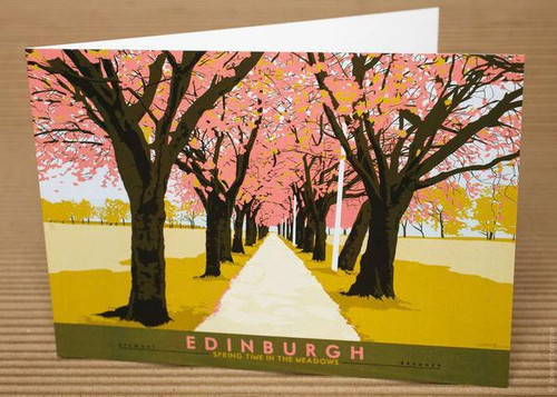 Stewart Bremner Edinburgh The Meadows Greetings Card Green