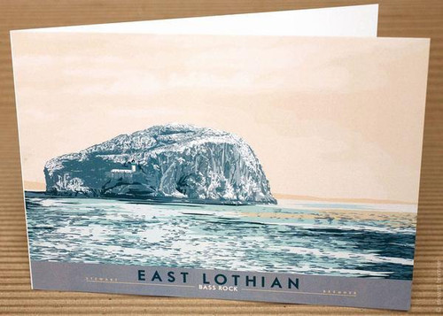 Stewart Bremner East Lothian Bass Rock Greetings Card