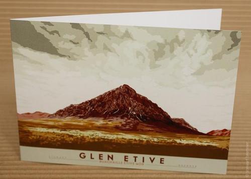 Stewart Bremner Glen Etive Buachaille Etive Mòr Card