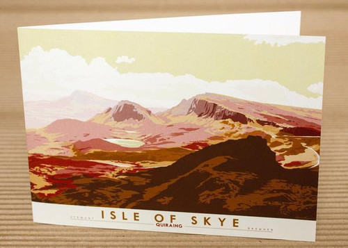 Stewart Bremner Isle of Skye Quiraing Green Greetings Card