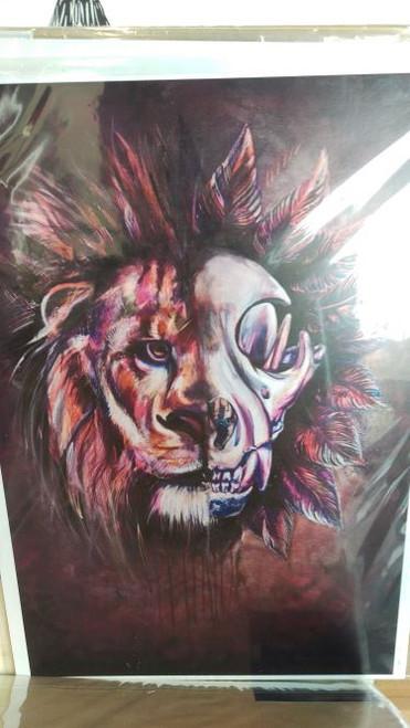 Shona Hardie - Lion Skull A3 Print