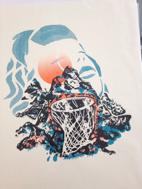 Ursula Cheng Basketball Mountain Screenprint