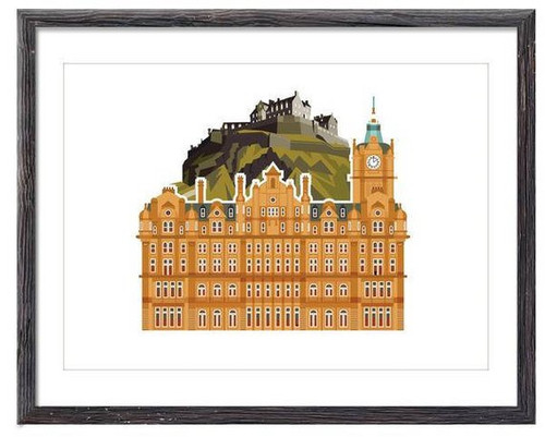 LoveThatView Giclee A4 Balmoral Hotel Print