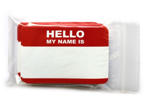 Writers Stuff Hello My Name Is Stickers x50