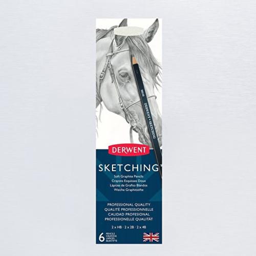 Derwent Sketching Soft Graphite Pencils 6 Pack