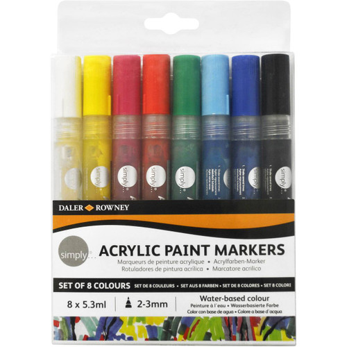 Daler Rowney Simply Acrylic Paint Marker 2-3mm 8 Pack