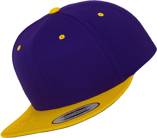 Flexfit Classic 2-Tone Snapback Purple Yellow