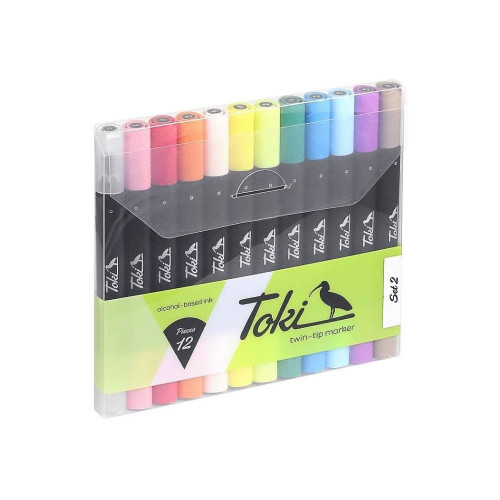 Toki Twin-Tip Marker 12-Set 2
