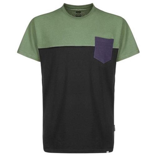Streetspun Colorblock T-shirt Olive-Black-Navy
