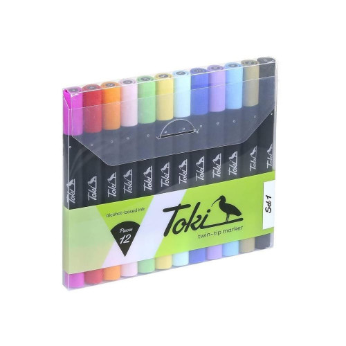 Toki Twin-Tip Marker 12-Set 1