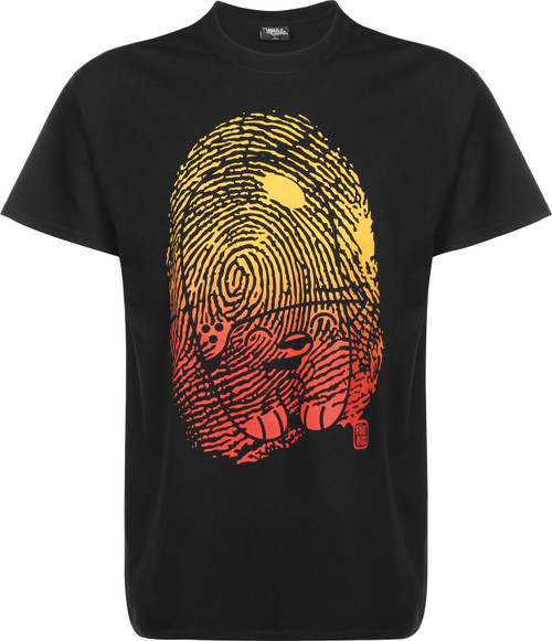 Underpressure Fingerprint T-Shirt Black