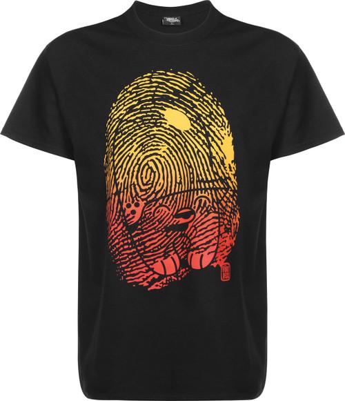 Underpressure Fingerprint T-Shirt Black