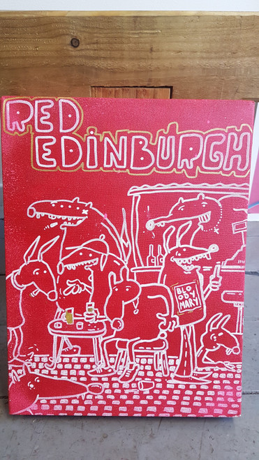 Sior Red Edinburgh Canvas