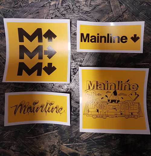 Mainline Stickers Yellow x4