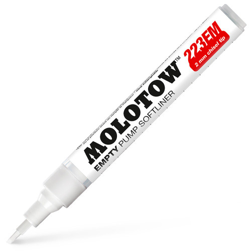 Molotow 223EM Empty Pump Softliner 2mm Chisel Marker