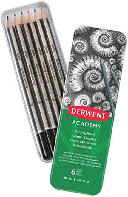 Derwent Academy Sketching Pencils 6 Set