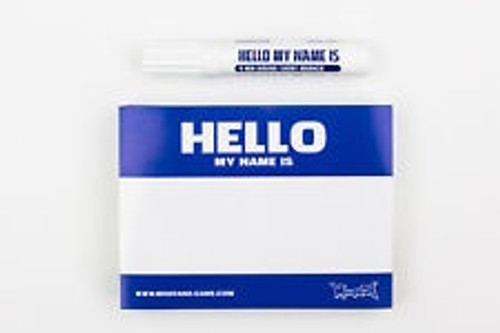 Montana Hello My Name Is Stickers Blue x100