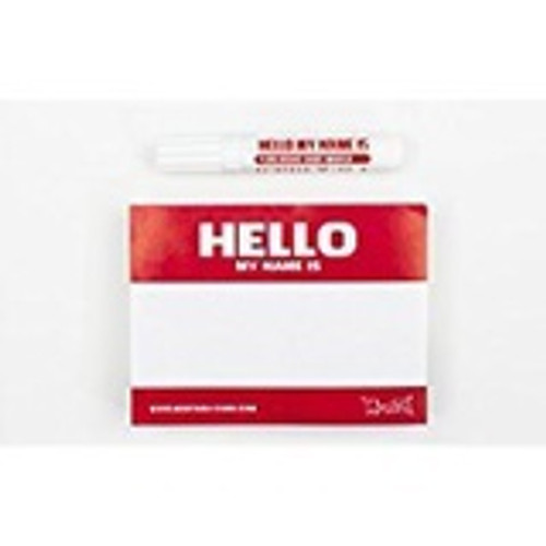 Montana Hello My Name Is Stickers Red x100
