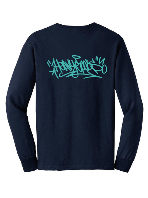 Heavy Goods Pentel Tag Long Sleeve T-Shirt Navy